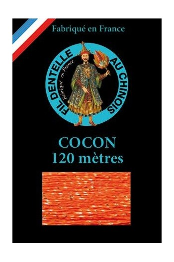 Fil dentelle couleur Cocon Caudry 120 m 3078 - Orange