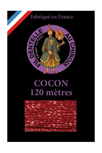 Coloured lace thread 120 m Caudry Cocoon 3039 - Burgundy