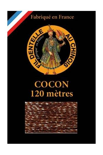 Coloured lace thread 120 m Caudry Cocoon 3058 - Brown