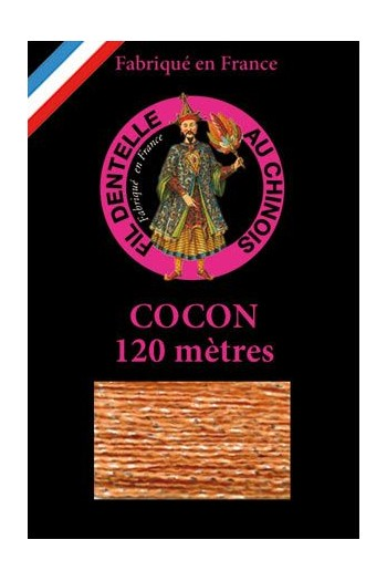 Coloured lace thread 120 m Caudry Cocoon 3983 - Peach