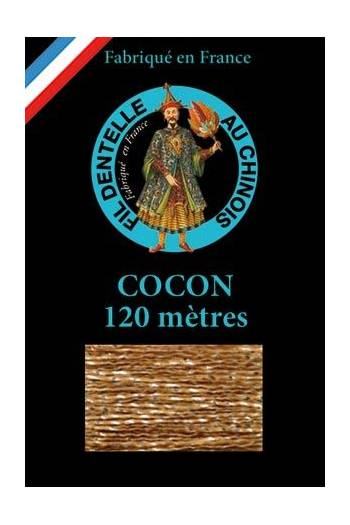 Coloured lace thread 120 m Caudry Cocoon 3057 - Chestnut