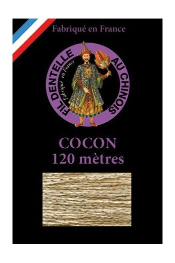 Coloured lace thread 120 m Caudry Cocoon  3084 - Sand