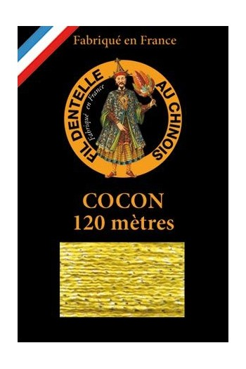 Coloured lace thread 120 m Caudry Cocoon 3024 - Yellow