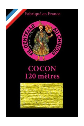 Coloured lace thread 120 m Caudry Cocoon  3818 - Lime green
