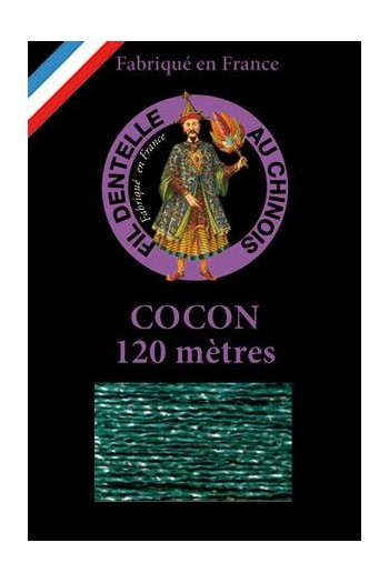 Coloured lace thread 120 m Caudry Cocoon 3984 - Emerald