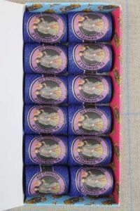 12 Caudry cocoons box colour lace thread 3076 - Navy