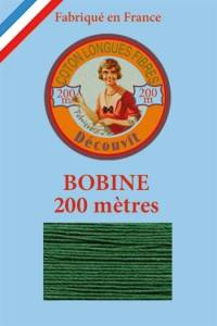 Decouvit cotton thread 200m wooden spool 6878 - Green
