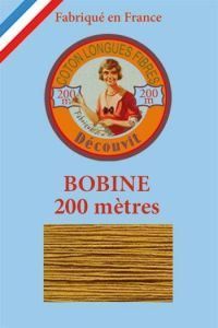 Decouvit cotton thread 200m wooden spool 6354 - Caramel
