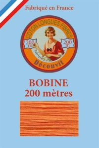 Decouvit cotton thread 200m wooden spool 6390 - Marigold