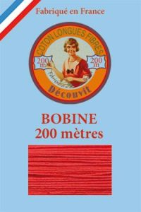Decouvit cotton thread 200m wooden spool 6532 - Red