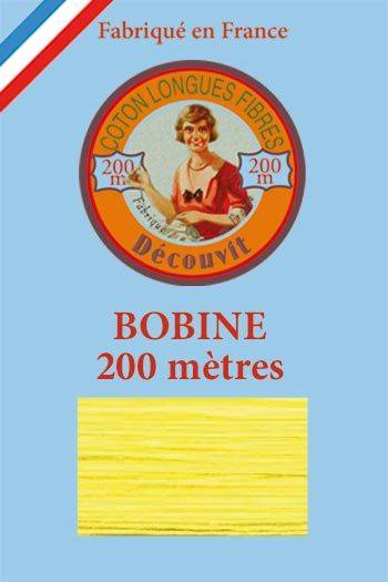 Decouvit cotton thread 200m wooden spool 6327 - Yellow