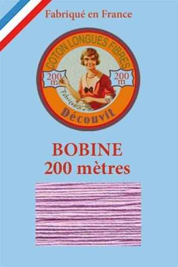 Decouvit cotton thread 200m wooden spool 6603 - Lilac