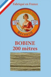 Decouvit cotton thread 200m wooden spool 6297 - Beige