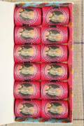 12 Caudry cocoons box colour lace thread 3110 - Fuchsia