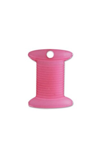 Charm spool imitation red opaline - 2,2cm -
