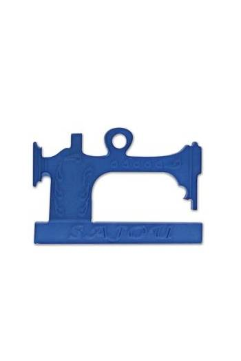 Sewing machine charm imitation blue opaline - 2,4cm -