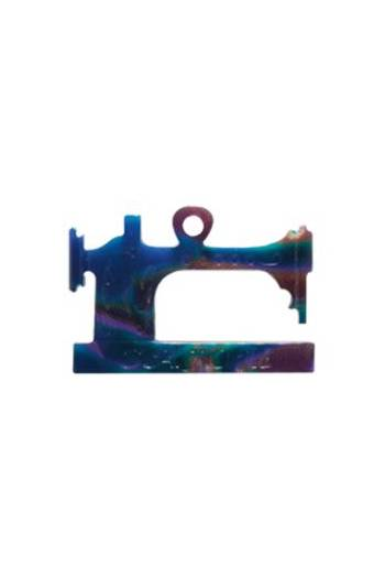 Sewing machine charm imitation blue onyx - 2,4cm -