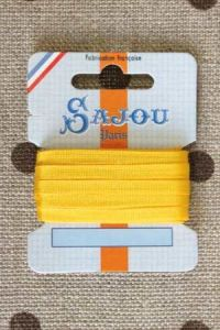 Embroidery ribbon card - 4mm width - Col.120 yellow