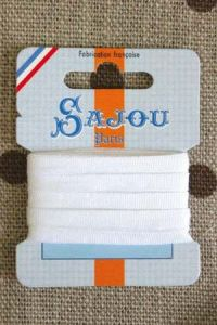 Embroidery ribbon card - 4mm width - Col.201 white