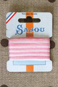 Embroidery ribbon card - 4mm width - Col.203 shaded pink