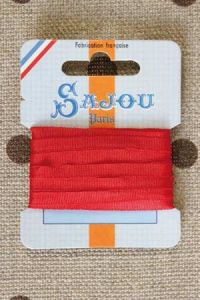 Embroidery ribbon card - 4mm width - Col.204 red