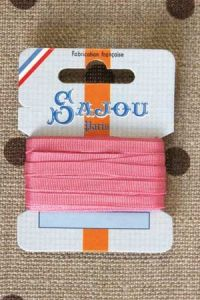 Embroidery ribbon card - 4mm width - Col.208 pink