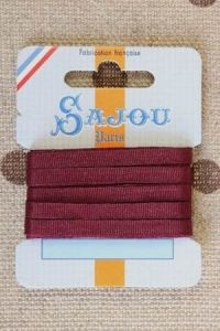 Embroidery ribbon card - 4mm width - Col.209 bordeaux