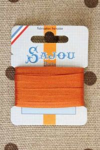 Embroidery ribbon card - 4mm width - Col.216 orange