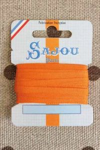 Embroidery ribbon card - 4mm width - Col.219 salmon