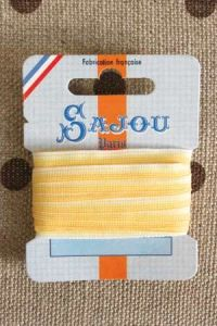 Embroidery ribbon card - 4mm width - Col.220 shaded yellow