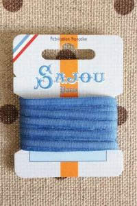 Embroidery ribbon card - 4mm width - Col.224 gauloise blue