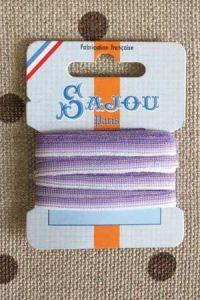 Embroidery ribbon card - 4mm width - Col.230 shaded violet