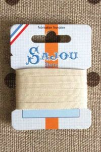 Embroidery ribbon card - 4mm width - Col.245 beige