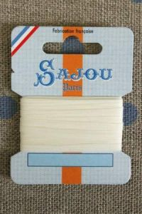 Embroidery ribbon card - 3mm width - Col.245 écru