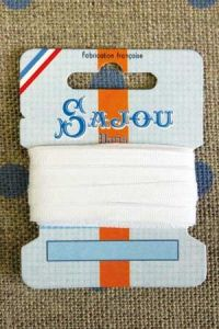 Embroidery ribbon card - 3mm width - Col.201 white