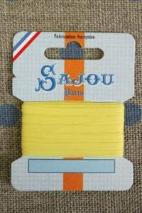 Embroidery ribbon card - 3mm width - Col.235 yellow
