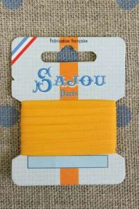 Embroidery ribbon card - 3mm width - Col.218 mandarine