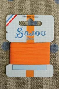 Embroidery ribbon card - 3mm width - Col.391 orange
