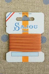 Embroidery ribbon card - 3mm width - Col.399 rust