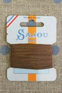 Embroidery ribbon card - 3mm width - Col.214 brown