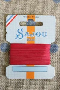 Embroidery ribbon card - 3mm width - Col.264 strawberry