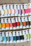 Embroidery ribbon card - 3mm width - Col.390 sand