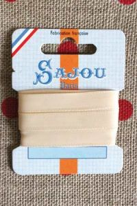 Embroidery ribbon card - 8mm width - Col.026 écru