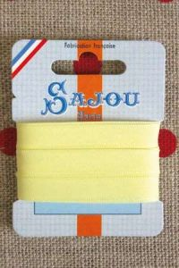 Embroidery ribbon card - 8mm width - Col.013 pale yellow