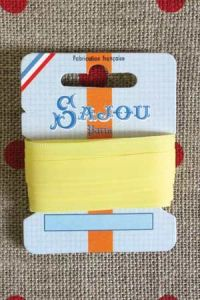 Embroidery ribbon card - 8mm width - Col.005 yellow