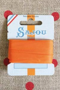 Embroidery ribbon card - 8mm width - Col.014 orange