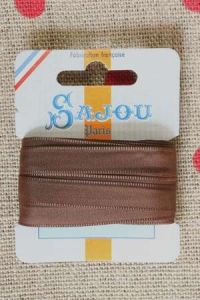 Embroidery ribbon card - 8mm width - Col.024 brown