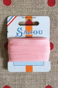 Embroidery ribbon card - 8mm width - Col.007 pink