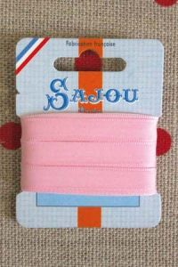 Embroidery ribbon card - 8mm width - Col.067 baby pink