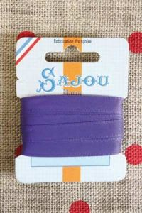 Embroidery ribbon card - 8mm width - Col.031 violet
